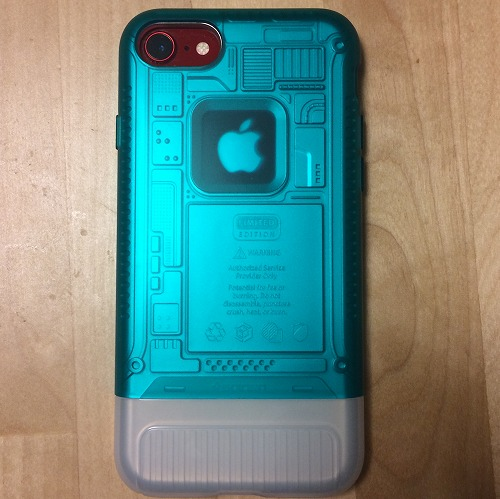 Spigen classic1をiPhone8に装着